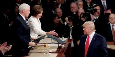 نانسي بيلوسي تعلق على تبرئة ترامب من قرار عزله