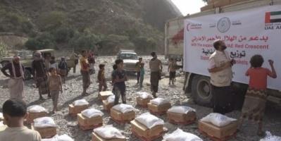 أعلن مضاعفة جهوده.. الهلال الإماراتي: 24 طن أغذية لأهالي سرار