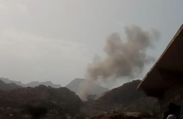 مدفعية القوات الجنوبية تٌطهر حيفان عيريم من الحوثيين