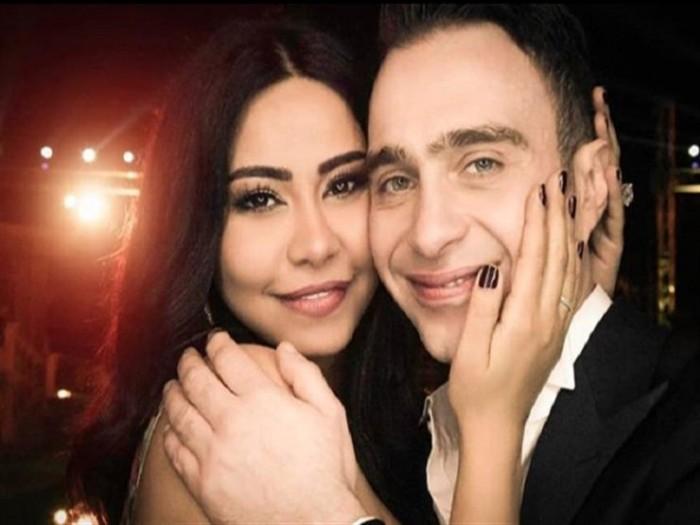 حسام حبيب يهنئ زوجته شيرين بعيد الحب