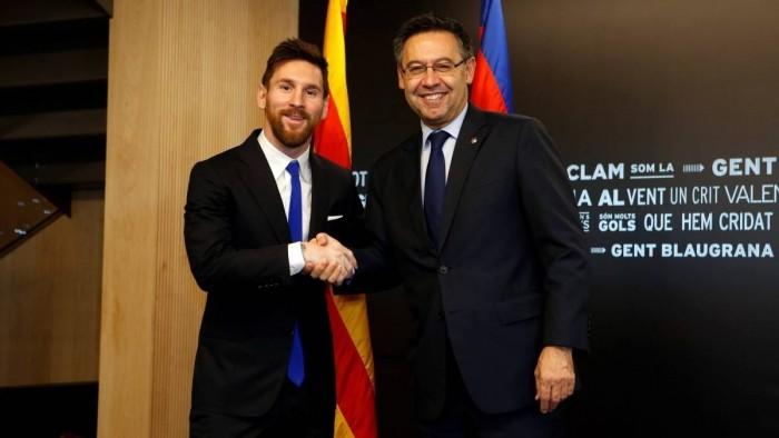 رئيس نادي برشلونة ينفي تورطه في الحرب على ميسي