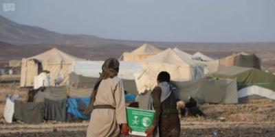ألف سلة غذائية سعودية للنازحين من صنعاء