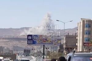 6 غارات على مخازن صواريخ الحوثي بصنعاء