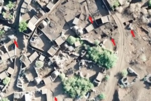 شاهد تحصينات مليشيا الحوثي في منازل الدريهمي
