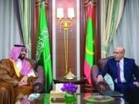 ولي العهد السعودي يناقش مع الرئيس الموريتاني بعض القضايا