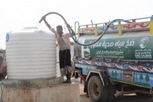 """""""سلمان للإغاثة"""" يوفر 632 ألف لتر مياه بالخوخة"""