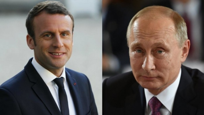 هاتفيًا.. بوتين وماكرون يبحثان التصعيد الأخير في إدلب