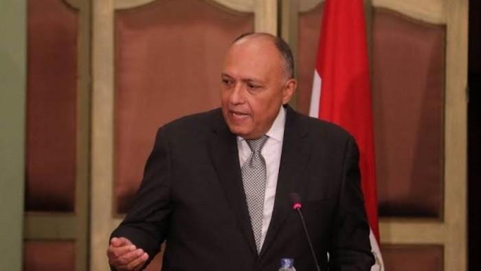 سامح شكري: التدخلات الإيرانية أدت إلى تدهور الأوضاع الإنسانية والأمنية باليمن