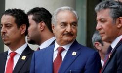 حفتر يستهل زيارته إلى فرنسا بلقاء وزير الخارجية الفرنسي بالعاصمة