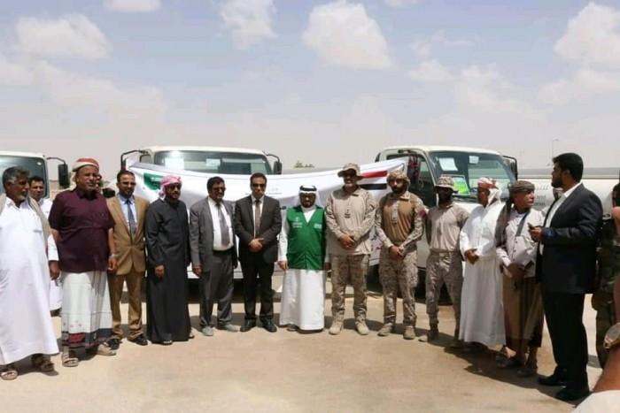 """16 صهريجا من """"البرنامج السعودي"""" لتوفير المياه بالمهرة (صور)"""