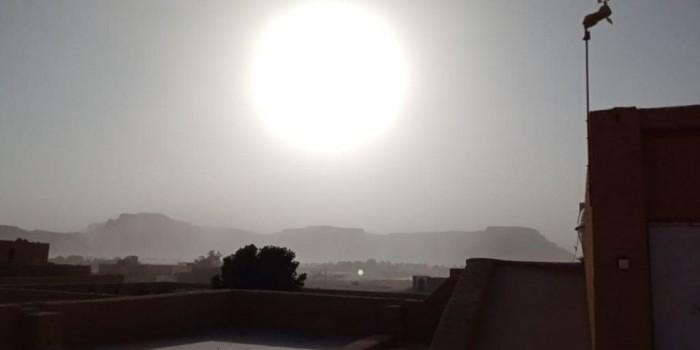 رياح مُثيرة للأتربة بأجواء وادي حضرموت