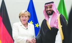 """ميركل تبحث مع ولي العهد السعودي """"قمة العشرين"""" وسبل مواجهة كورونا"""