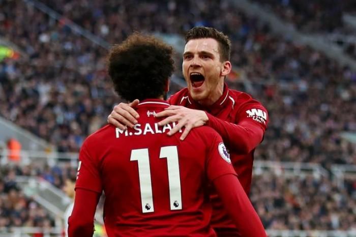 روبرتسون يختار هدفه المصنوع لصلاح الأفضل له مع ليفربول