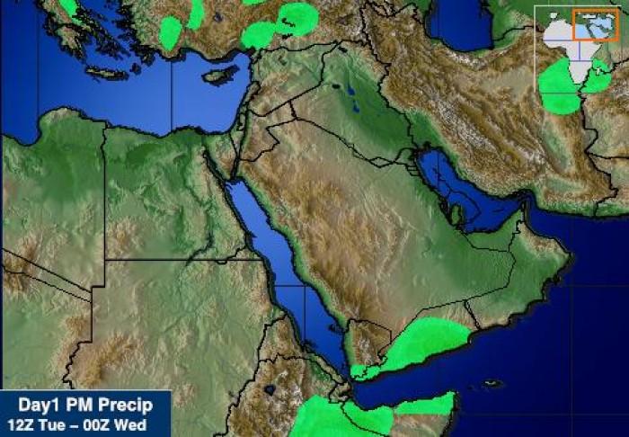 توقعات بهطول أمطار على عدد من محافظات الجنوب