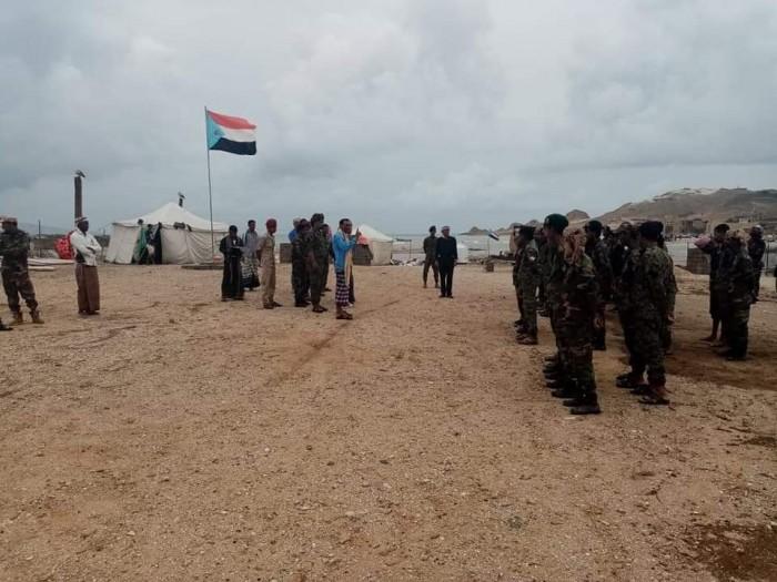 توجيهات برفع جاهزية الكتيبة الأولى حزام أمني بسقطرى (صور)