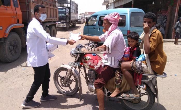 برعاية الانتقالي.. حملة طلابية لتوعية مواطني لحج بكورونا (صور)