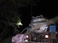 إزالة مياه الصرف الصحي من منطقة الكود بأبين