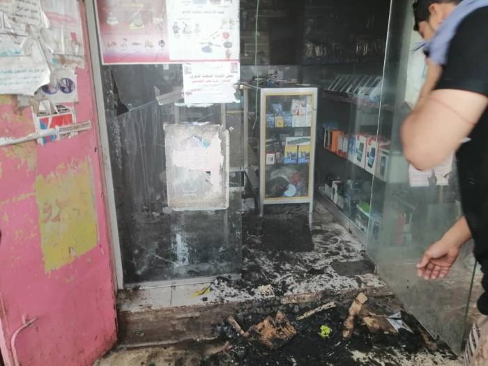 ماس كهربائي يتسبب في حريق بمحل تجاري بمدينة الحبيلين