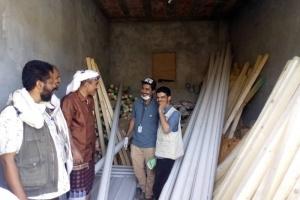 أوكسفام توفر معدات حمامات للأسر في مسيمير لحج