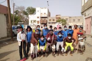 مواجهة كورونا في جعار بنظافة الشوارع (صور)