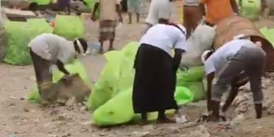 """""""الهلال الإماراتي"""" يوثق حملة تطهير مديرية ذُباب (فيديو)"""