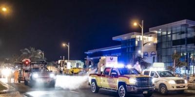 """""""الإمارات"""" تقرر تكثيف حملة التعقيم في دبي على مدار 24 ساعة لأسبوعين"""