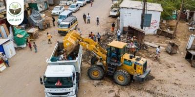 إزالة 8 آلاف متر مخلفات من العاصمة عدن