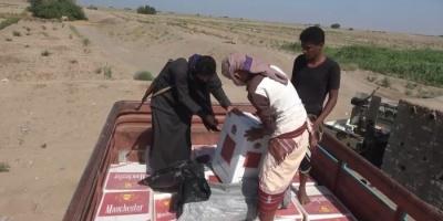 إحباط تهريب دراجات نارية وسجائر للحوثيين بالتحيتا (فيديو)