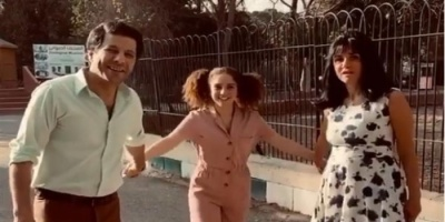"""أول فيديو من كواليس مسلسل """"ليالينا"""" لغادة عادل وإياد نصار"""