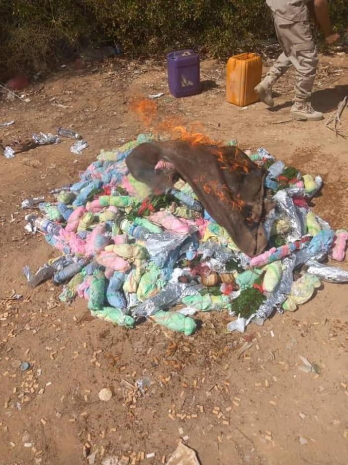 ضربة جديدة لمهربي القات إلى ساحل حضرموت (صور)