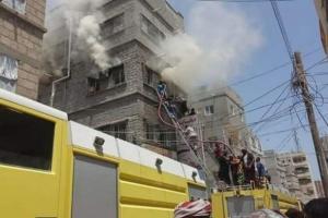 وفاة أم وابنتها في حريق بمنطقة الشرج