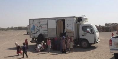 """شاهد.. """"الهلال الإماراتي"""" يعالج 80 مريضا في الفازة"""