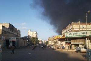 حريق في محل أخشاب بالمنصورة (صور)