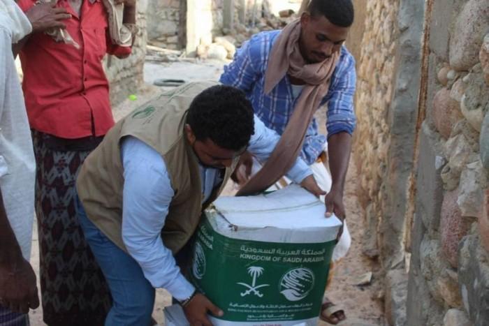 """""""سلمان للإغاثة"""": تسليم 22 طن أغذية في حديبو"""