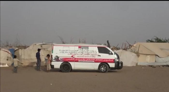 هلال الإمارات يقدم 380 وجبة للنازحين بالخوخة (فيديو)