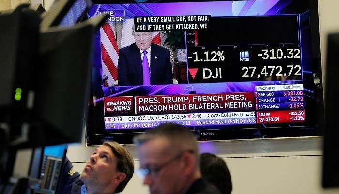 الأسهم الأمريكية تنخفض في ظل أزمة واشنطن وبكين