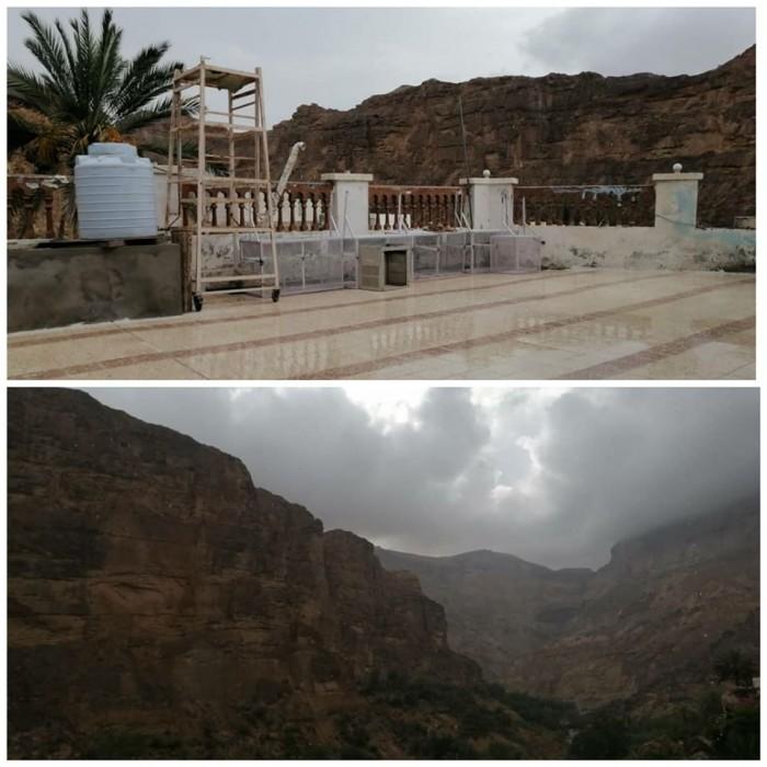 أمطار غزيرة على حجر بحضرموت