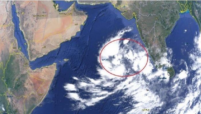 الاضطراب المناخي يتحول لمنخفض جوي ببحر العرب