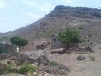 انزلاقات صخرية جبلية على قرية بردفان