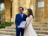 أول تعليق لماجدة الرومي بعد تكريمها بالسفارة الفرنسية في لبنان
