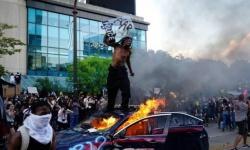 """تفجير مقر شبكة """"CNN"""" بجورجيا خلال احتجاجات """"فلويد"""""""