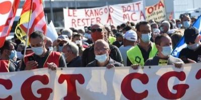 """تظاهرات ضد إلغاء 15 ألف وظيفة بـ""""رينو"""""""