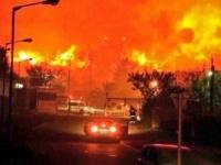 إيران.. نشوب حريق ضخم في أكبر متنزهات طهران