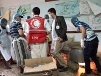 """""""الصليب الأحمر"""" يتبرع بـ5 أطنان طعام للمحاجر الصحية في صعدة"""