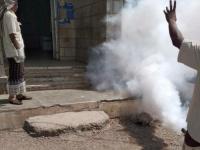 حملة مشتركة للرش الضبابي في المسيمير لحج