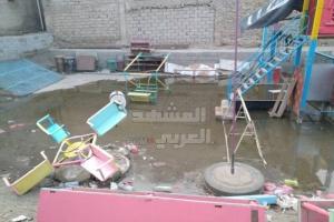 بالصور.. طفح الصرف الصحي في شارع الكهرباء بجعار
