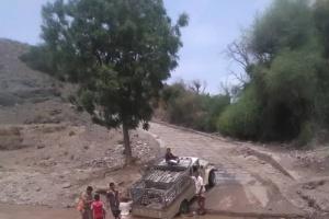 أهالي المسيمير لحج يطالبون بإصلاح طريق عقبة مفيرد (صور)