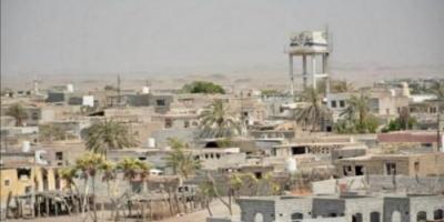 إخماد تمركز حوثي قصف الدريهمي