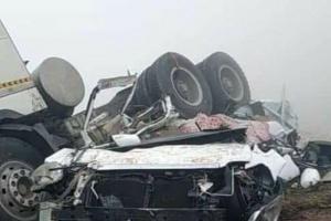 7 ضحايا في تصادم قاطرة وسيارة بعقبة عبدالله غريب