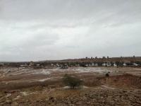 الأمطار الغزيرة تتواصل بمناطق حضرموت